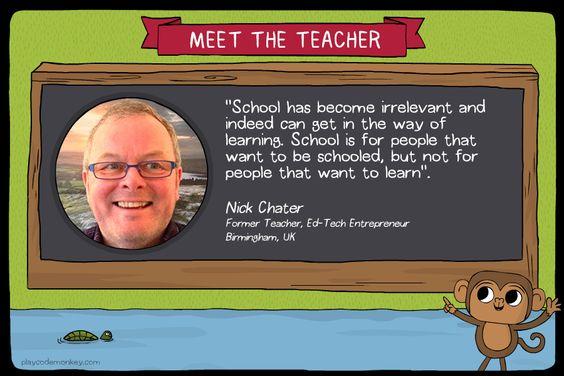 meet the teacher Nick Chater