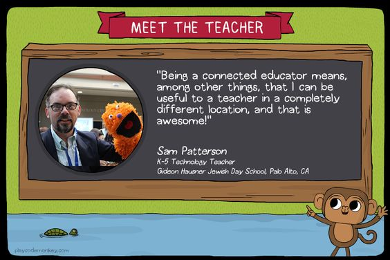 meet the teacher Sam Patterson