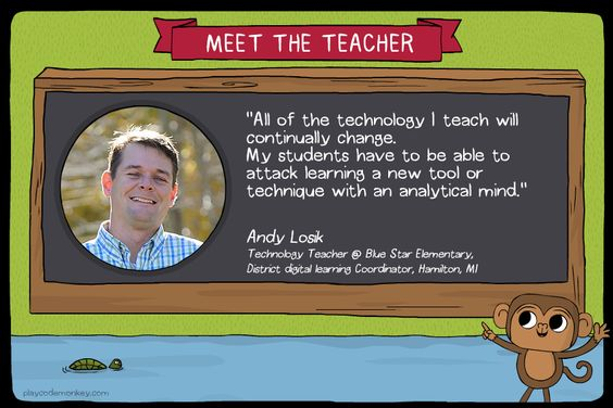 meet the teacher Andy Losik