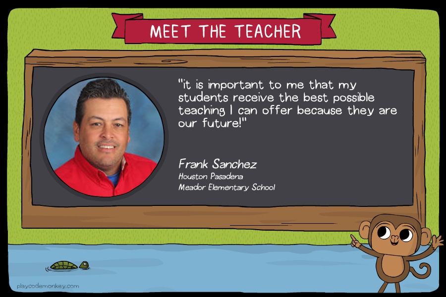meet the teacher Frank Sanchez