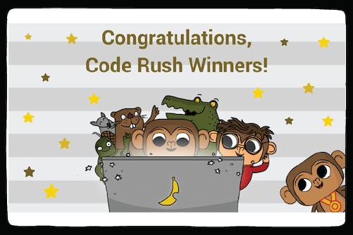 code rush winners