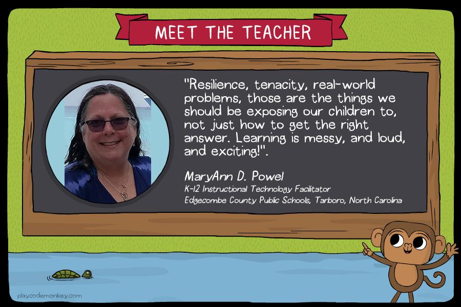 meet the teacher MaryAnn D. Powell
