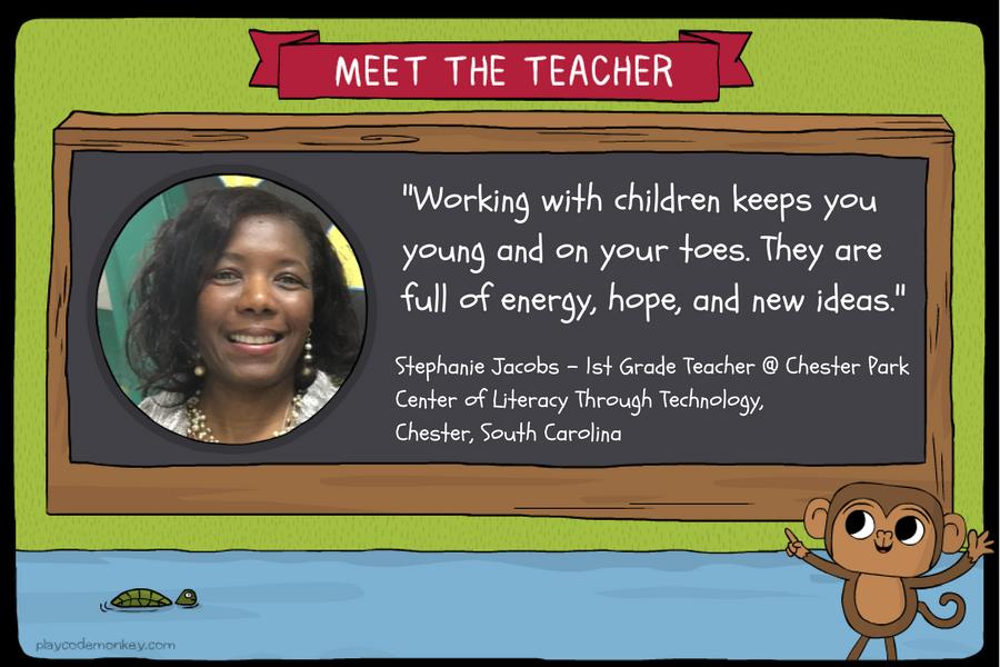 meet the teacher Stephanie Jacobs