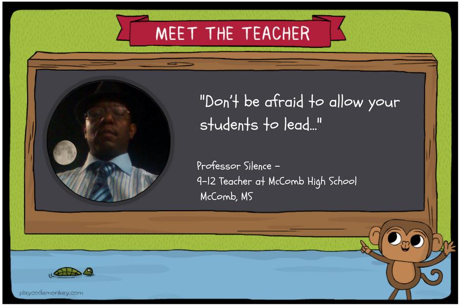 meet the teacher Professor Silence