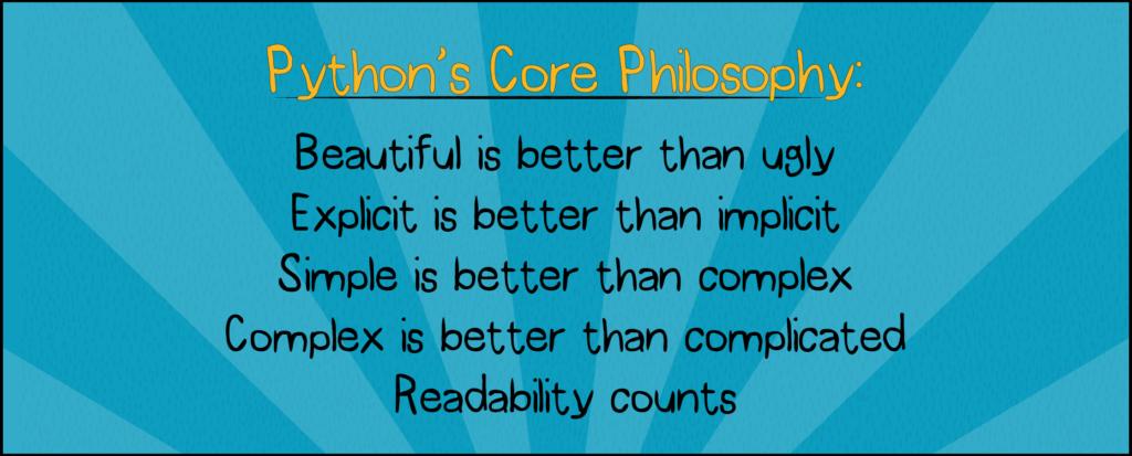 Python coding philosophy